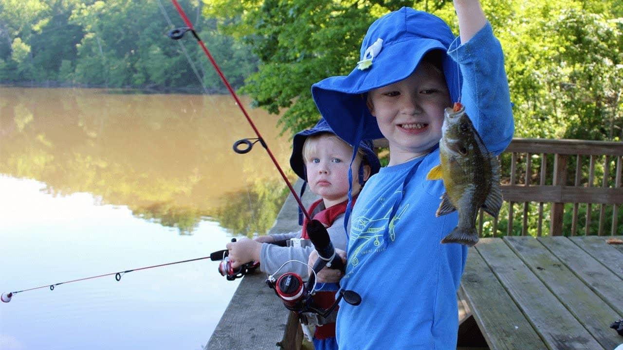 Fishing for bluegill