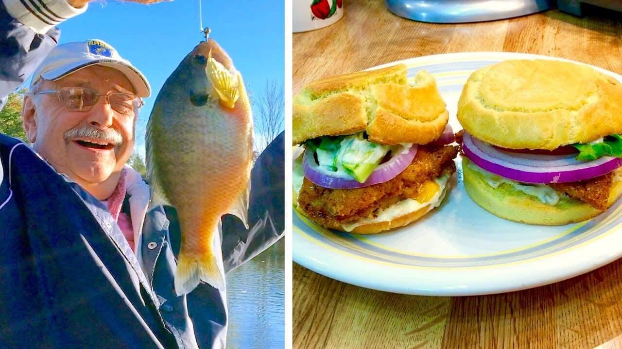 Bluegill Fishing and Fried Bluegill Burgers